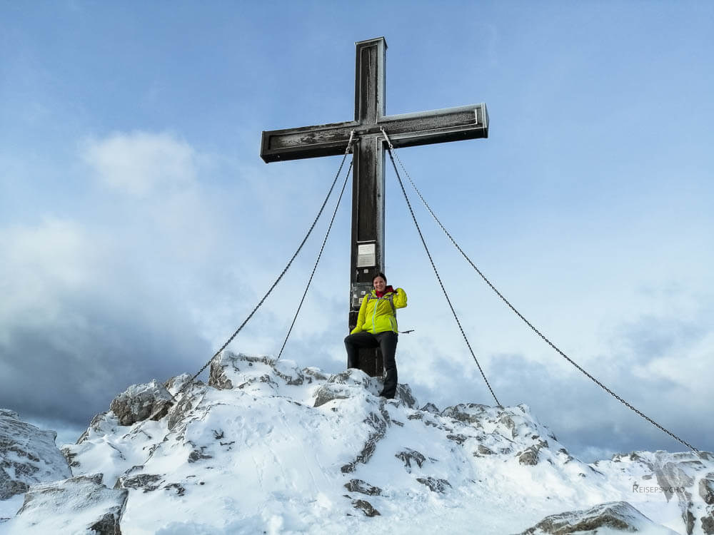 Winterwandern am Gipfel