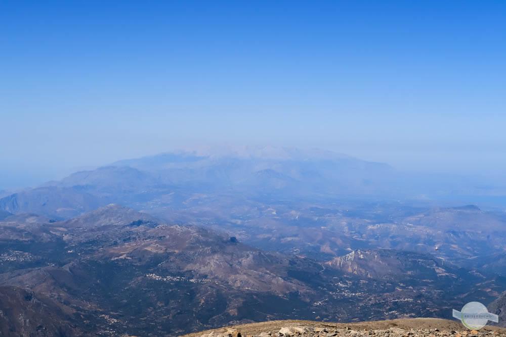 Ausblick vom Psiloritis auf Kreta