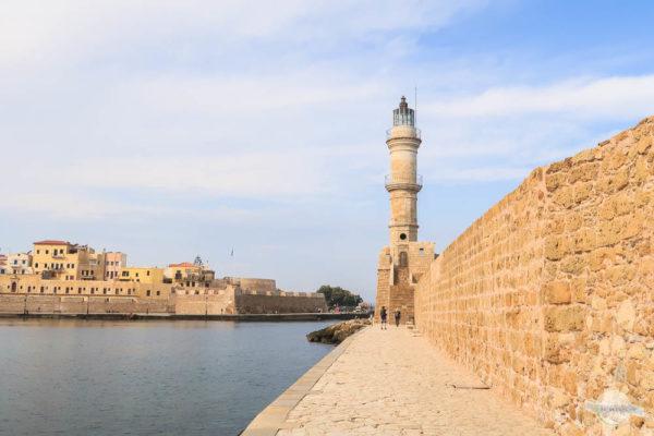 Der venezianische Hafen in Chania