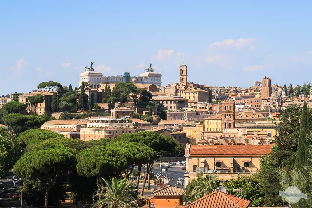 Ausblick auf Rom vom Avetin