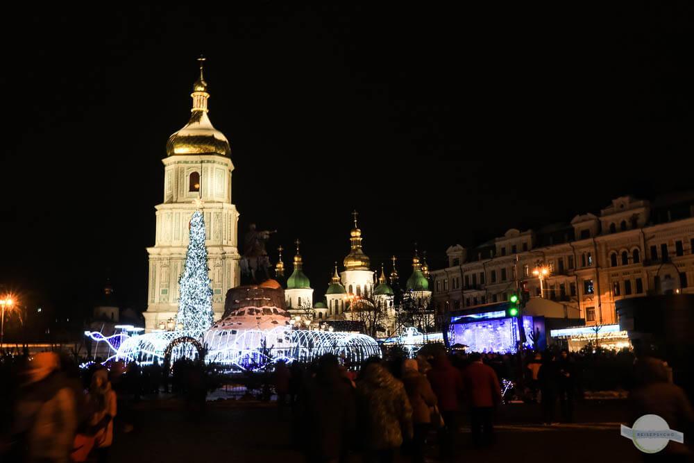 Silvester in Kiew feiern am Sophienplatz