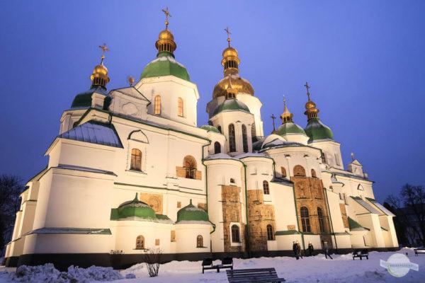 Spohienkathedrale Kiew bei Nacht