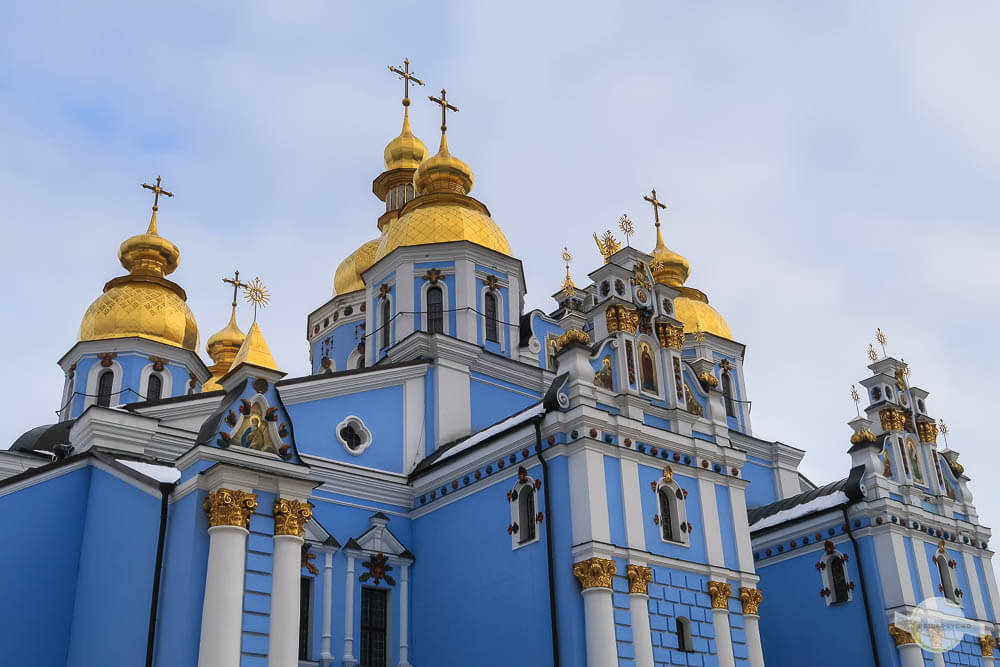 Michaelskloster in Kiew im Winter