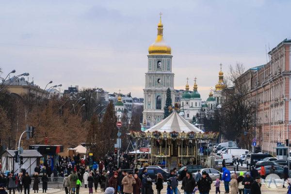 Authentisches Silvester in Kiew mit Weihnachtsmarkt und Schnee