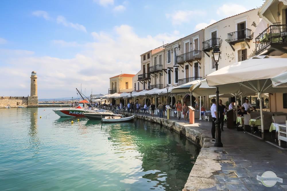 Hafenpromenade im alten Hafen von Rethymnon