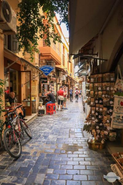 Einkaufsstraßen in Rethymno