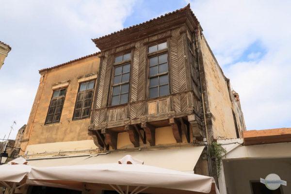 Erker aus Holz in Rethymno