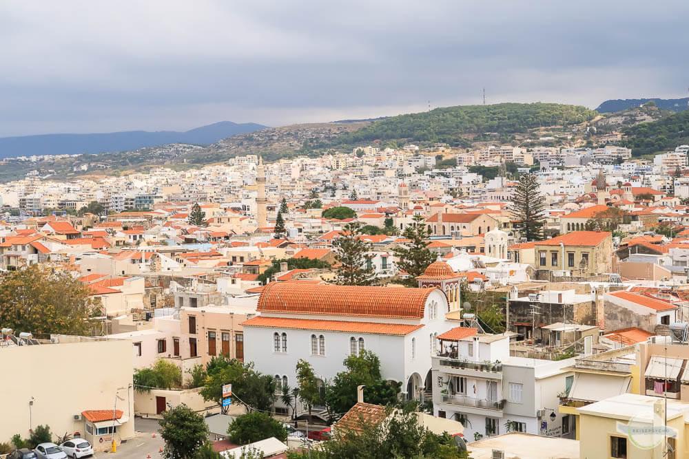 Die Aussicht auf Rethymno von der Fortezza aus