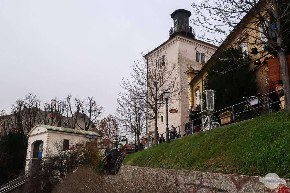 Der Kanonenturm von Zagreb