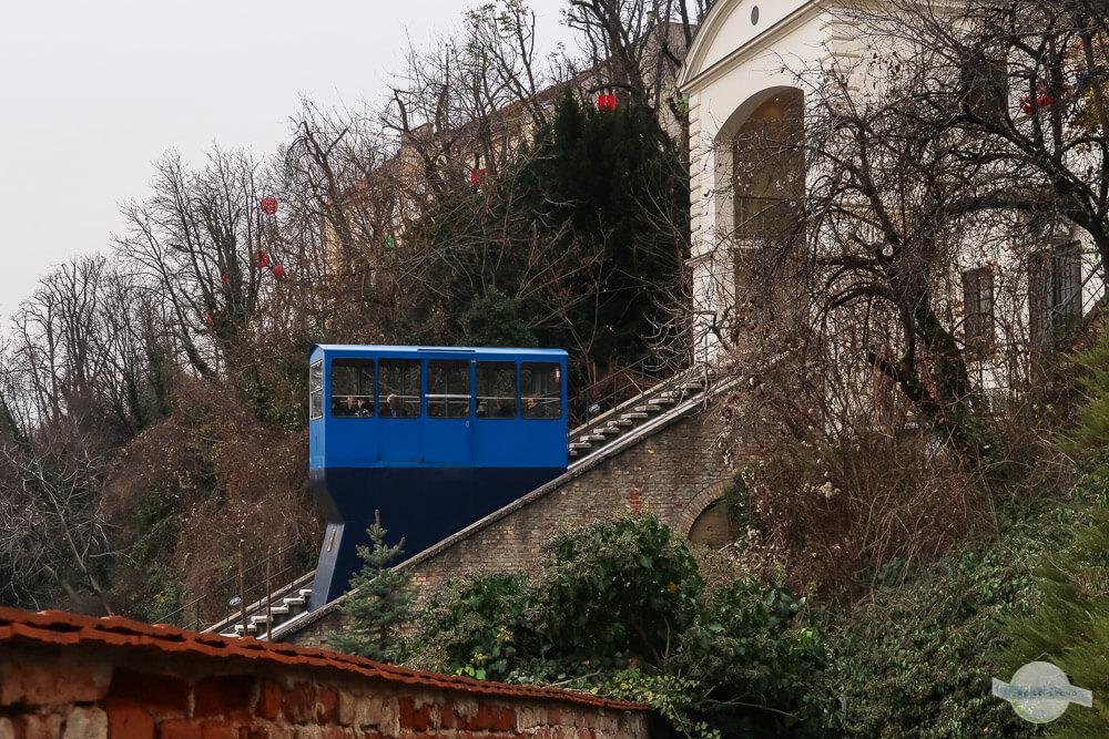 Blaue Standseilbahn Zagreb