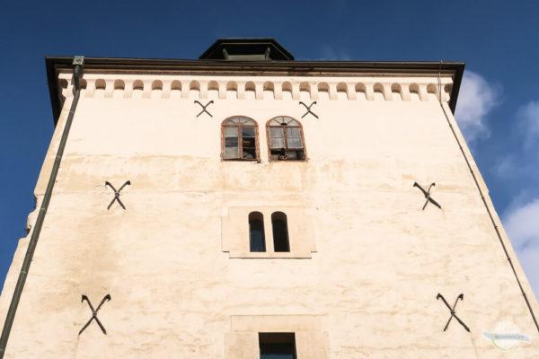 Der Lotrščak Turm mit der Kanone aus dem Fenster