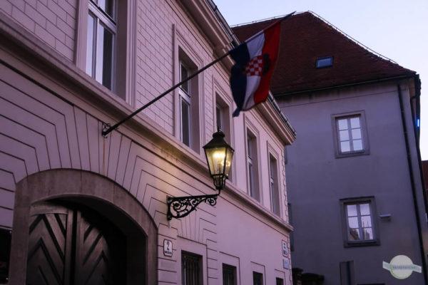 Gaslampen im Stadtteil Gradec in Zagreb
