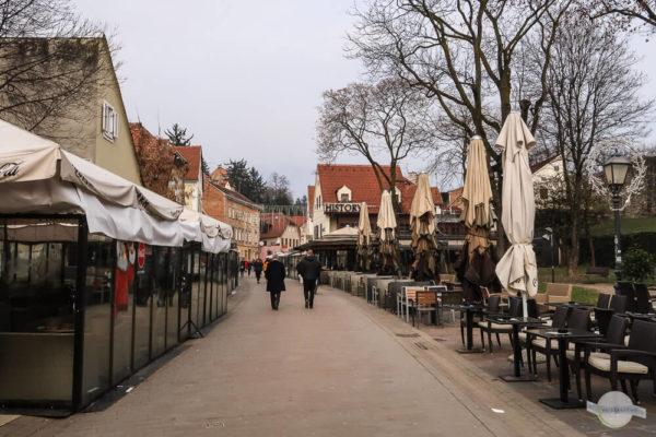 Tkalčićeva: Straße in Zagreb mit vielen Restaurants zum Flanieren