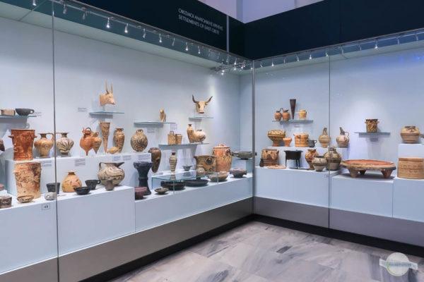 Ausgestellte Stücke im Archäologischen Museum in Heraklion