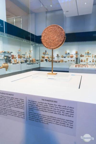 Diskus von Phaistos im Archäologischen Museum Heraklion