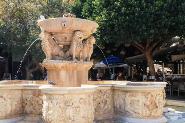 Löwenbrunnen in Heraklion auf Kreta