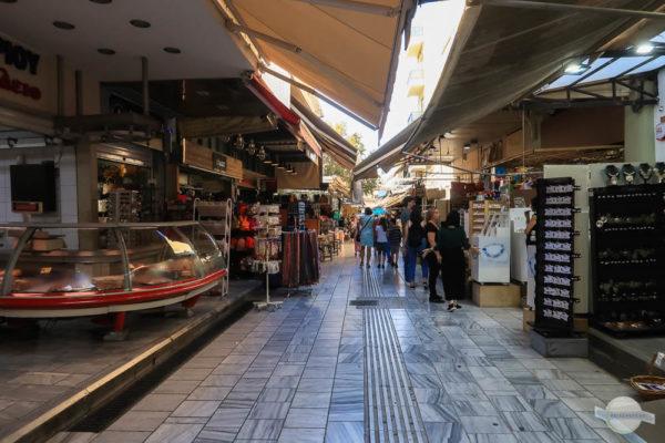Einkaufen in der Marktstraße in Heraklion
