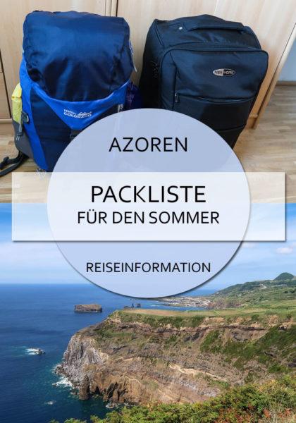 Pin Packliste Azoren für den Sommer mit Handgepäck