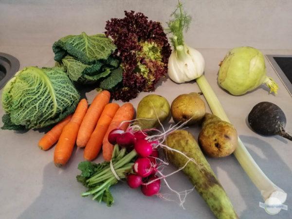 Obst und Gemüse vom Bauernmarkt