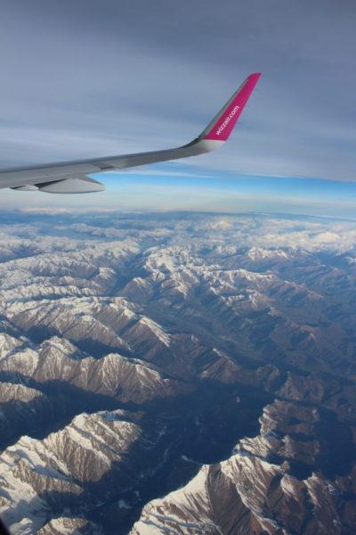 Mit dem Flugzeug über den Alpen