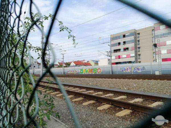 Schienen beim Hauptbahnhof in Graz