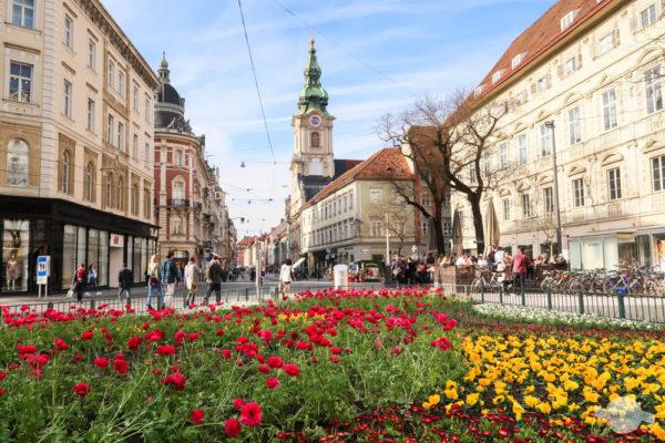Die Herrengasse: Hauptschlagader von Graz