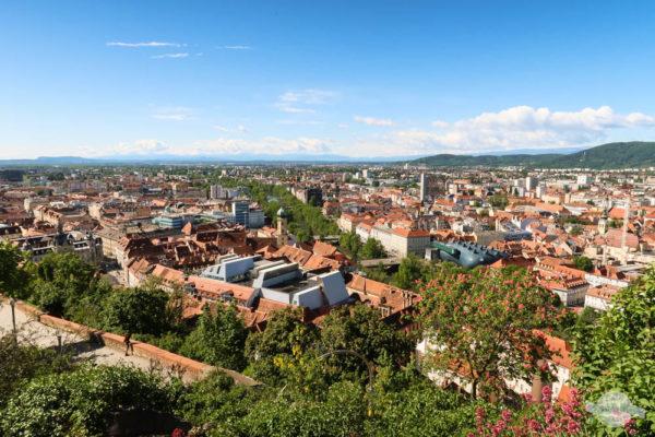 Blick auf Graz vom Schlossberg aus