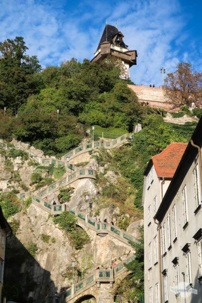 Kriegssteig - Stufen in Graz