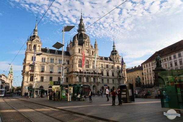 Das Grazer Rathaus am Hauptplatz