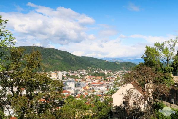 Sicht auf Plabutsch vom Schlossberg aus