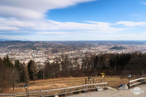 Aussicht vom Plabutsch auf Graz