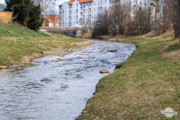 Fluss Pinka durch Pinkafeld