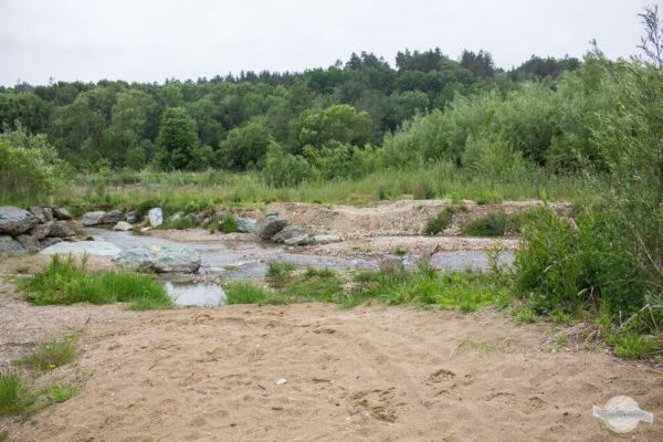 Pinka mit Sandbank