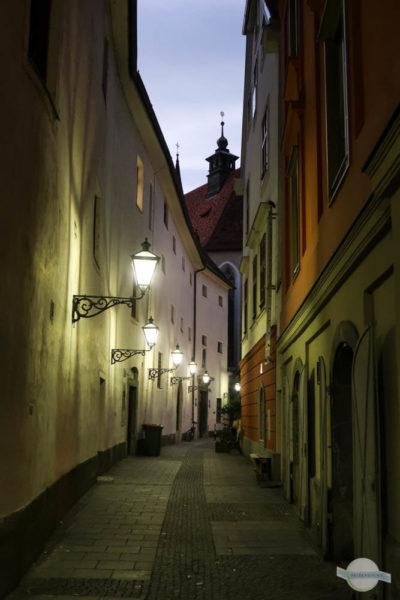 dunkle Gasse in Graz