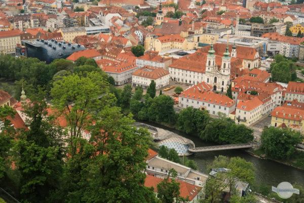 Blick auf Graz rechtes Murufer