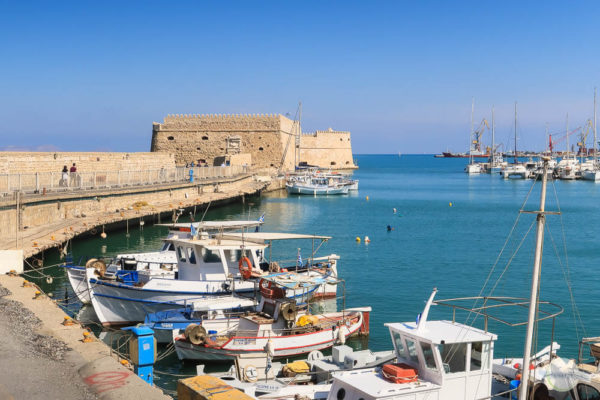Am Venezianischen Hafen in Heraklion