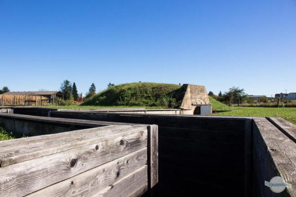 Bunker und Schützengraben in Bildein