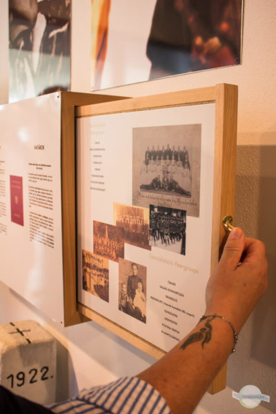 Infotafeln im Museum in Bildein