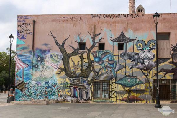 Street Art Gemälde auf einer Wand