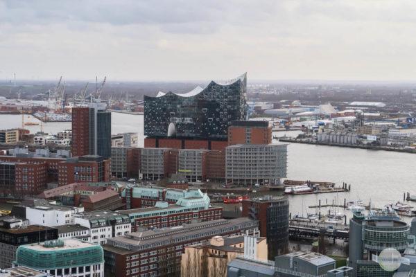 Hamburg Ausblick auf Elbphilharmonie