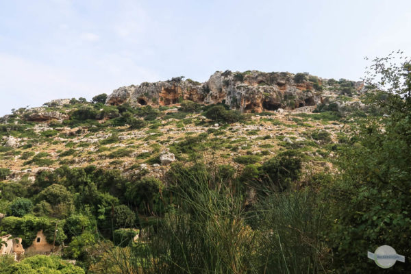 Blick auf Felsen