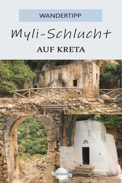 Pin Wandern in der Myli-Schlucht auf Kreta