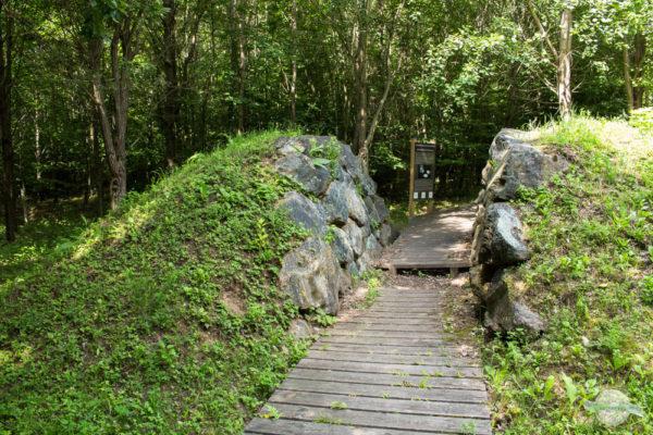 Hügelgrab zum Durchspazieren
