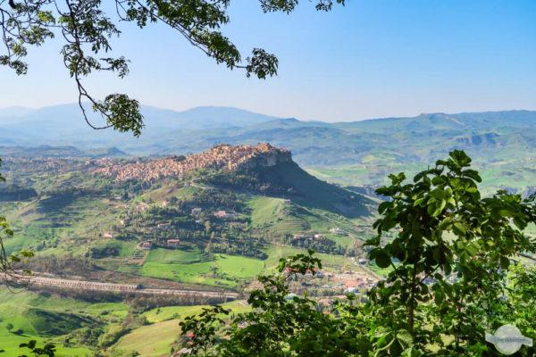 Blick nach Calascibetta