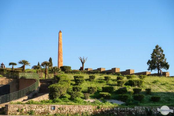 Obelisk in Enna - in der Mitte Siziliens