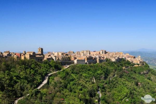 Stadt Enna auf Sizilien