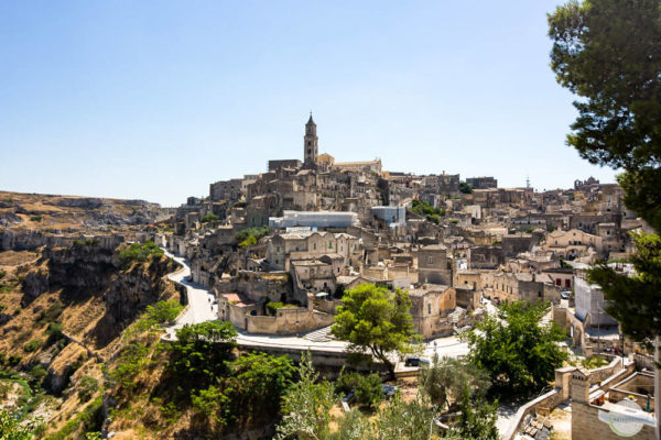 Matera Italien - Felsenstadt mit Sassi in der Region Basilikata