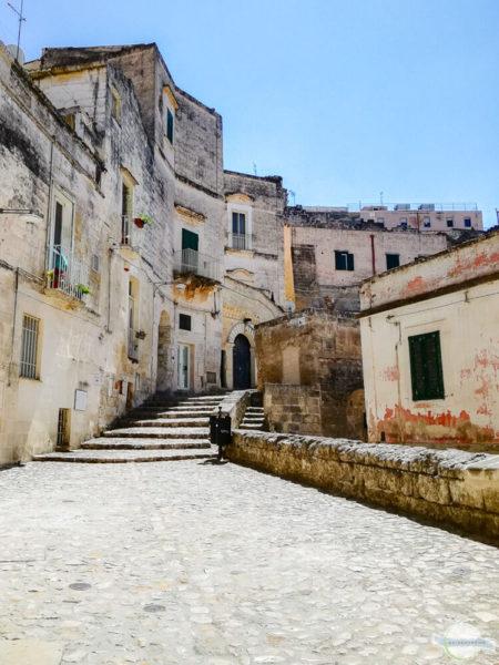 Matera ist die Perle der italienischen Städte - hier in den Gassen