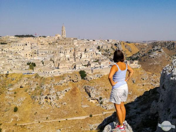 Blick auf Matera von der Belvedere aus