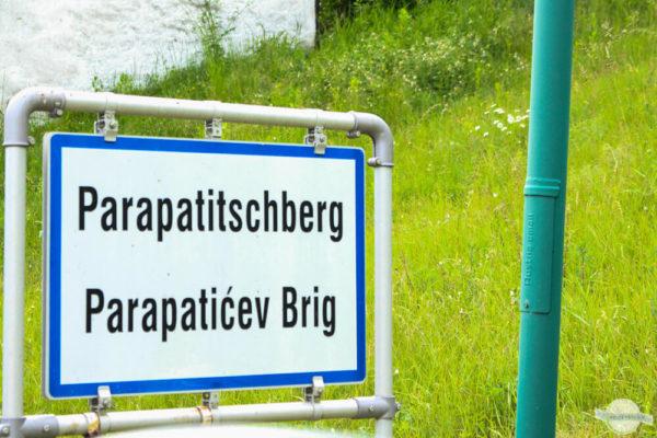 Parapatischberg Ortstafel